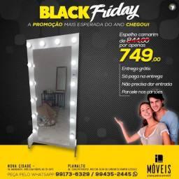 Black Friday imperdível / Espelho camarim 100% MDF completo de R$ 844,00 por R$ 749,00