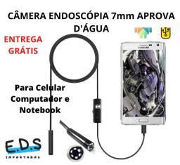 Câmera Endoscópica Aprova D'água Com Cabo de 2 Metros