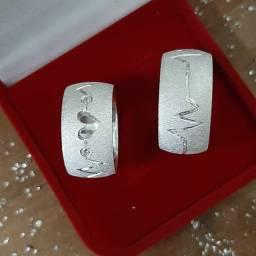 Par de Aliança em Prata com 5 gramas