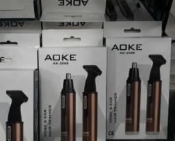 Máquina de Barbear Depilação AOKE Bico Para Nariz Recarregável Bivolt