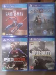 4 jogos ps4 troco vendo
