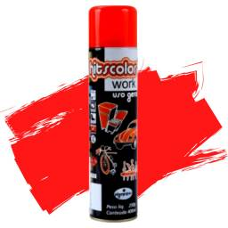 Tinta Spray Uso Geral Vermelho Ferrari 400ml Hitscolor