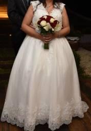 Vestido de noiva longo/curto 46/48