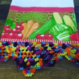 Jogos com 10 panos de prato Artesanal com crochê