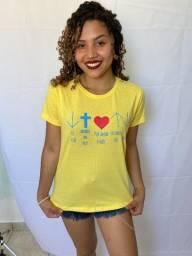 Kit03 Peças T-shirts Blusas Femininas Baby Look Varias Core