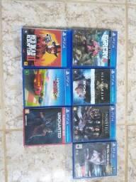 7 jogos PS4 mídia física usados mas funcionando perfeitamente
