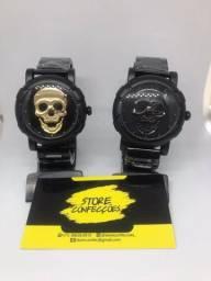 Relógio Skmei Caveira Masculino De Aço Inoxidável - Entrega Gratuita.