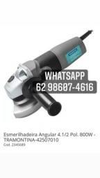 Esmerilhadeira Angular 4.1/2 Pol. 800W - TRAMONTINA-42507010