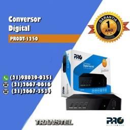 Título do anúncio: Conversor Digital Full Hdtv Full Hd Prodt 1250 Proeletronic