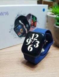 Smartwatch HW16 Azul Marinho - tela Infinita