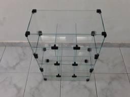 Baleiro de vidro tipo vitrine/expositor preço só segunda