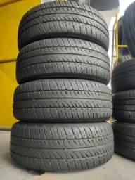 4 pneus 185/60 R14 semi novos !!(750$ até 6x sem juros no cartão)