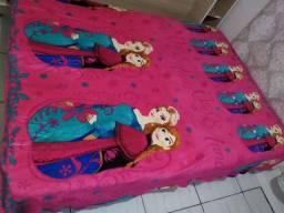 Manta infantil so rosa nova tamnaho grande casal exclusivo Frozen ana e elza