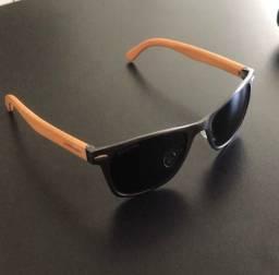Óculos de sol masculino Chilli Beans bamboo polarizado OC.AL.0243