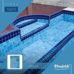 Revestimento Strufaldi 10x10 Azul Itapuã