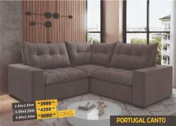 Título do anúncio: Sofá de Canto Modelo Portugal, consulte tamanhos e cores!
