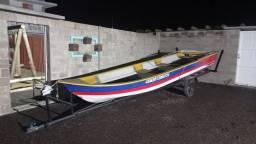 Título do anúncio: Barco de Fibra 6 metros