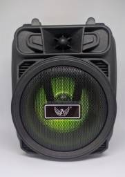 caixinha de som Bluetooth com suporte para celular