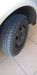 Vendo rodas 14 pneus 175/65/14 aro 5x100