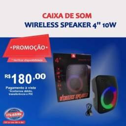 Caixa de som Wireless Speaker 4'' 10w ? Entrega grátis