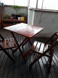Mesa de bar desmontável