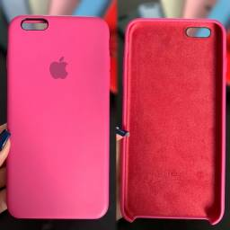 Capinha Iphone 6s plus rosa usada