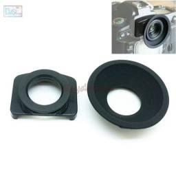 Visor Ocular Redondo Com Adaptador Para Canon Ou Nikon