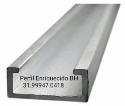 Título do anúncio: Perfil Enrriguecido, Perfil simples, Metalom 50x30 chapa 18 , peril 100x50, 75x40 calhas