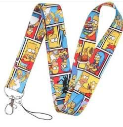 Tirante Cordão Crachá Simpsons Colorido