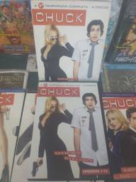Da primeira até a Quinta temporada CHUCK,tudo original semi novo.