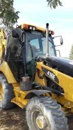 Retro escavadeira 2015 caterpila 416e ( troca )