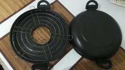 Churrasqueira de Fogão Antiaderente 30cm-Alumínio Fortaleza Black