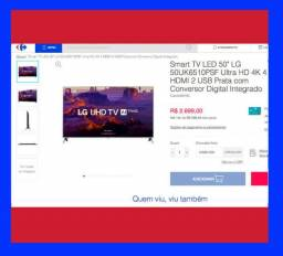 Top SmarT TV monitor Led LG 50 50UK6510 4k wifi netflix youtube espelhamento de tela