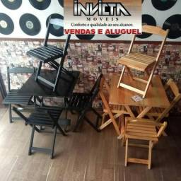 Mesa dobravel c cadeiras