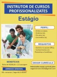 Estágio Instrutor de cursos profissionalizantes