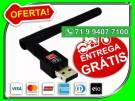 Adaptador Wireless Usb Wifi 600mbps Sem Fio Lan B/g/n Antena 5db - Novo - Entrega Grátis
