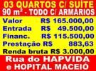Farol - 3 Quartos / Suíte C/ Armários - Só R$ 165 Mil