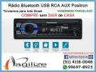 Rádio Positron Bluetooth usb SD rca aux FM/AM SP2310 BT