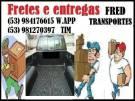 Fretes e entregas 53984176615 Pelotas
