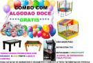 Locaçao/aluguel de brinquedos com algodao doce , frete e maquinas de bolhas (gratis)